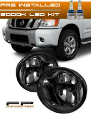 For 2004-2014 Nissan Titan Smoke Replacement LED Fog Light Housing Assembly Pair