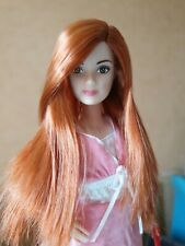 Redhead Barbie Doll Closed Mouth Red Ginger Hair Petite Height Very Pale Skin