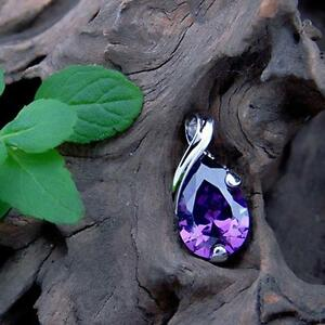 For Necklace Purple Quartz Crystal Healing Point Chakra Stone Bead Pendant Sale