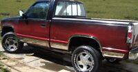 "GMC Pickup Full Size 2Door Ext Cab Short Bed Rocker Panel Trim 6.25"" 10Pc 88-98"