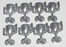 LEGO LOT OF 8 NEW METALLIC SILVER MINIFIGURE TROPHY CUP MINIFIG PARTS