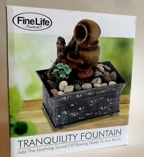 NEW Cordless Tranquility Pottery Fountain W Rock 4 1/2 X 5 1/2 Fine Life Product