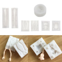 DIY Silicone Mold Polymer Clay Molds Doll Face Body Fondant Cake Baking Tool