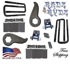 "2011-2015 Silverado Sierra 2500HD 3500HD 3""-4"" Lift Kit Keys Blocks Shock Extend"