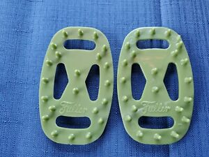 2 Vintage FULLER PLASTICS Green Avocado SOAP SAVERS Inserts 1960's MCM Decor NEW