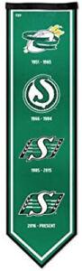 CFL Football Saskatchewan Roughriders 8x30 Legacy Felt Banner Brand New