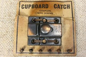 "Old Cabinet Catch Cupboard Latch vintage rustic Copper on tin 1 3/8"" NEW stock"