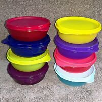Tupperware - BUDDY 300ml round Bowls, EIGHT colours with matching lids,MUST HAVE