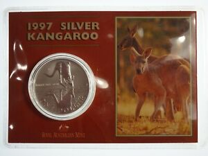 1997 1oz 999 Silver Kangaroo One Dollar Uncirculated Coin