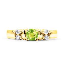 Peridot 9 Carat Yellow Gold Fine Rings