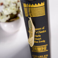 1X Gold Plated Hollow Animal Feather Bookmarks Book Magazine Reading Accessories