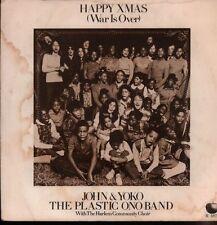 "John & Yoko/The Plastic Ono Band(Green 7"" Vinyl)Happy Xmas/ Listen The -VG/Ex"