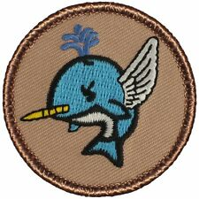 Cool Boy Scout Patch - Flying Narwhal Patrol! (#776)