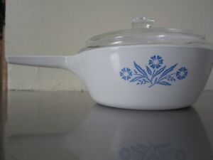 Corning Ware Blue Cornflower  Dish P-81-B with Pyrex Lid, 1 pt As NEW. Unused.