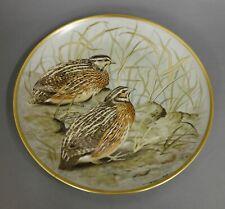 Wandteller Franklin Porcelain 1979 Limoges Gamebird of the world common quail #2