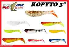 "Pike lures RELAX KOPYTO 3"" SHAD soft lure 3pcs cannibal jig head predator tackle"
