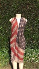 Womens Versatile Infinity Mutable Way Beach Body Wrap Flag Kaftan Sarong Dress