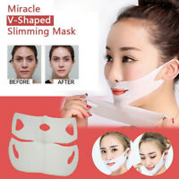 Miracle V-Shaped Face Care Slimming Mask (2 Pieces/Set) Natural Ingredients NEW