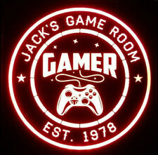 Gamer LED Sign Personalized, Xbox PS4