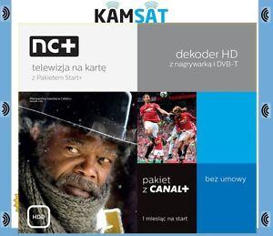 NC+ TELEWIZJA NA KARTE HD PAKIET START PACE HDS721 NAGRYWARKA DO 500GB CANAL +