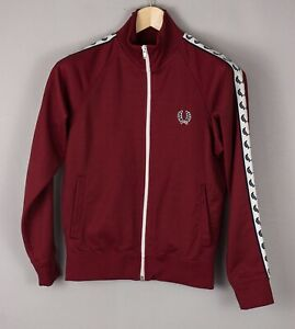 FRED PERRY Kids Casual Stretch Zip Track Jumper Top Size M