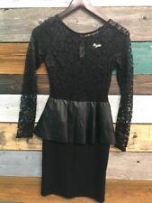 TFNC Size Small Long Sleeve Stretch Peplum  Dress 178$