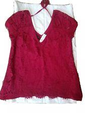 White house black market elegant lace blouse size Small NWT.