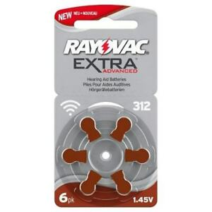 Rayovac Extra Advanced size 312 hearing aid batteries 60 cells in total BROWN