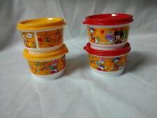 NEU OVP Tupperware D 68  Disney Snack Cups 4X 120 ml Kunterbunt Ein Behälter