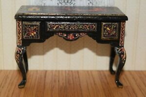 Desk With Natasha Decal-Dollhouse Miniature