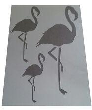 Shabby chic plastic Stencil 3 sizes flamingo Sheet Vintage A4 297x210mm wall