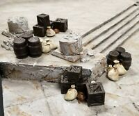 4 Pack Wooden Crate Piles Wargaming Scatter Terrain 28MM Well Painted