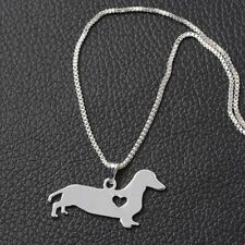 Animal Shaped Dachshund Steel Stainless Jewelry Pendant Puppy Necklace Dog