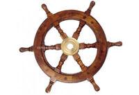 "Wooden nautical Ships wheel Boat's Steering Wheel Helm 24"" Marine Decoration"