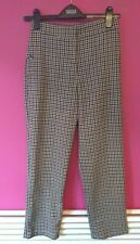 M&S Ladies Brown Check Trousers Size 6 Short