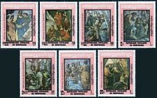 CAMBODGE Kampuchea N°386/392** Tableaux Raphael 1983 CAMBODIA Painting 404-10 NH