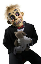 Robby Mens Adult Creepy Wooden Doll Scary Puppet Latex Mask