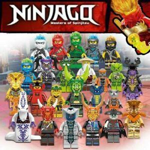 Lot de 24 Ninjago  plus 8 offertes soit 32 figurines neuves nouveaux modèles