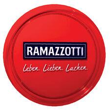 Ramazzotti Glas / Gläser Servier Tablett Kellner gummier Gastro Bar Deko NEU