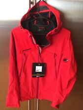 Men's Manaslu mammut jacket inferno red new L hooded athletic outdoor hiking