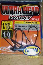 Owner Ultrahead Wacky Style Hooks 1/0 1/16 oz