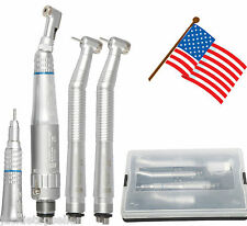 1 Kit Dental NSK Style 4 Hole Push button High & Low speed handpiece USA E-IA#A