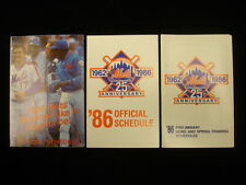 Lot of 3 Different 1986 New York Mets Baseball Schedules