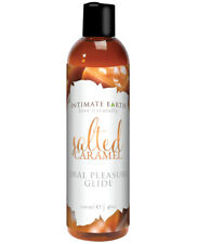 Intimate Earth Salted Caramel Flavored Edible Oral Pleasure Glide Lubricant 4 oz