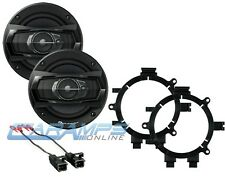 NEW PIONEER 3 WAY CAR TRUCK STEREO FRONT DOOR SPEAKERS WITH MOUNTING BRACKETS
