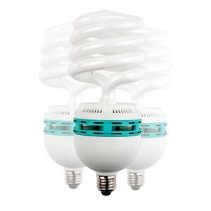 walimex Spiral-Tageslichtlampe 125W, 3er Set, Sockel: E27, 5400 K, CRI 82-85