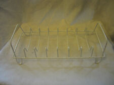 White Coated Metal Dish Pot Pan Lid Storage Display Rack Organizer 8 Slots