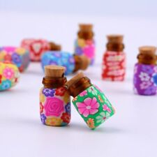 10 pcs Mini Glass Polymer Clay Bottles Containers Vials With Corks