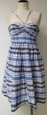 JACK ROGERS BLUE & WHITE PLAID STRAPLESS DRESS OR HALTER DRESS KNEE LENGTH SZ 2
