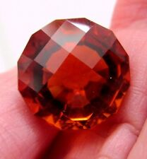 15.4 ct Custom Cut Madeira Citrine, 15 mm Fancy Round GORGEOUS COLOR!